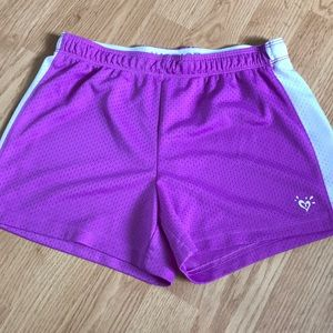 Justice Girls athletic shorts size 14